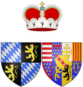 Coat of arms of Princess Elisabeth of Lorraine as Electress of Bavaria.png