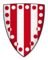 Coat of arms of Roger de Montbegon, Lord of Hornby Castle.png