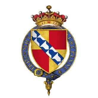 Edward Sackville, 4th Earl of Dorset - Arms of Sir Edward Sackville, 4th Earl of Dorset, KG