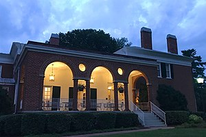Col Alto - Image: Col Alto, Lexington, VA veranda at dawn