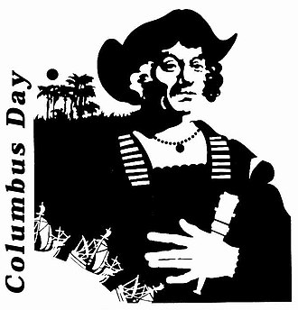 Columbus Day - Stylized graphic from the United States Department of Defense