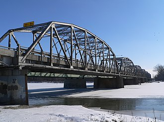 Columbus, Nebraska - Bridge carrying U.S. Highway 30 and U.S. Highway 81 across the Loup River at Columbus