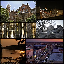 Montage of significant city locations