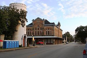 Columbus, Texas - Downtown Columbus, showing Stafford Opera House on far corner
