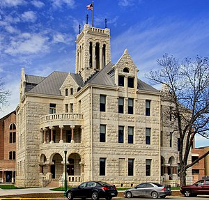 National Register of Historic Places listings in Comal County, Texas - Image: Comal county courthouse 2012