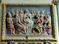 Commeny (95), église Saint-Martin, retable du chevet, panneau central - la Pentecôte a.JPG