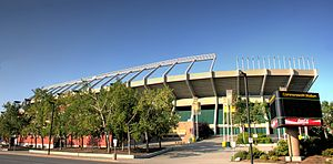 Commonwealth Stadium (Edmonton) - The facade
