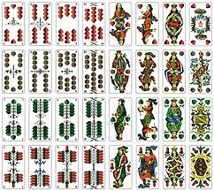 Deutsche Spielkarte Unter