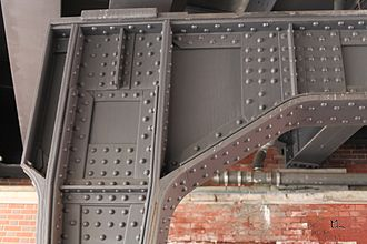 Rivet - Sophisticated riveted joint on a railway bridge
