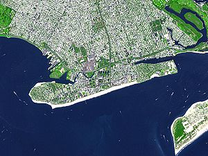 Satellitenbild von Coney Island