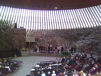 Confirmation (Lutheran Church) - A Lutheran confirmation service, Temppeliaukio Church, Helsinki.