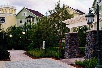 Disney Springs Resort Area - Image: Congress Park, Disney's Saratoga Springs Resort and Spa