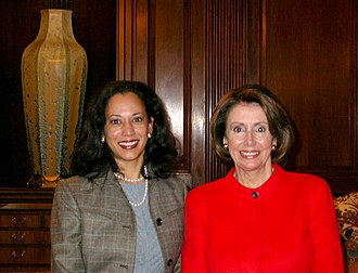 Kamala Harris - Congresswoman Nancy Pelosi meets San Francisco's new District Attorney, Kamala Harris, March 30, 2004.