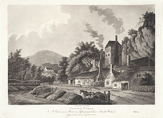 Copper works: a view near Aberavon, Glamorganshire, south Wales
