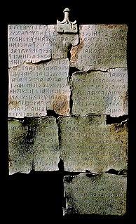 <i>Tabula Cortonensis</i> Third most extensive etruscan text