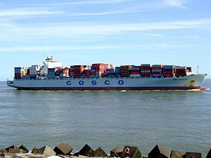 Cosco Vancouver p2 approaching Port of Rotterdam, Holland 08-Jul-2007.jpg