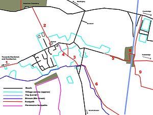 Coton, Cambridgeshire - Footpaths of Coton parish