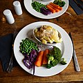 Cottage pie lunchtime dinner at The Wheatsheaf, Ashfold Crossways, Lower Beeding, West Sussex.jpg