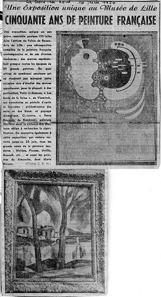 File:Coupure du Journal La Croix du Nord de 1950.jpg