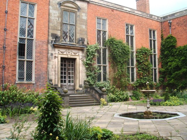 Courtyard and fountain in Dunham Massey Hall - geograph.org.uk - 1378677