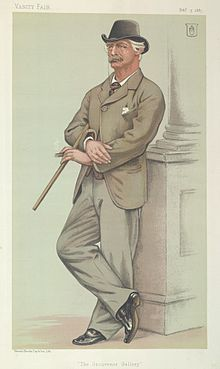 "The Grosvenor Gallery"". Caricature by Joseph Middleton Jopling, [ 1"