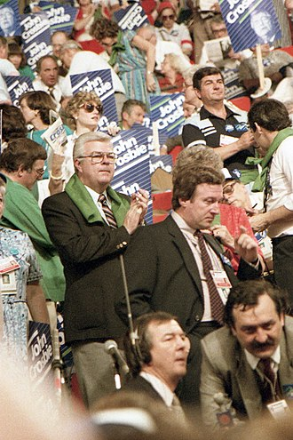 Progressive Conservative leadership election, 1983 - John Crosbie on the floor of the 1983 leadership convention.