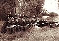 Császári és Királyi Katonai Főreáliskola (ma Martin Kaszárnya), rajzóra a parkban. Fortepan 75978.jpg