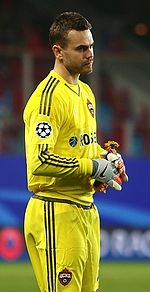 Akinfeev Playing For Cska Moscow In October