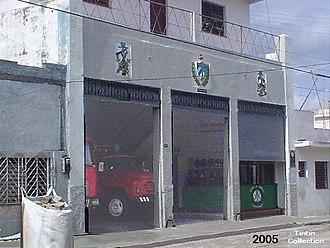 Sagua La Grande - The fire station of Sagua