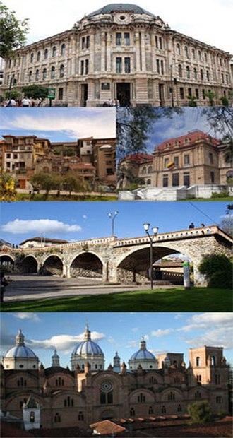 Cuenca, Ecuador - Panoramic view of Cuenca, Ecuador, from Turi area