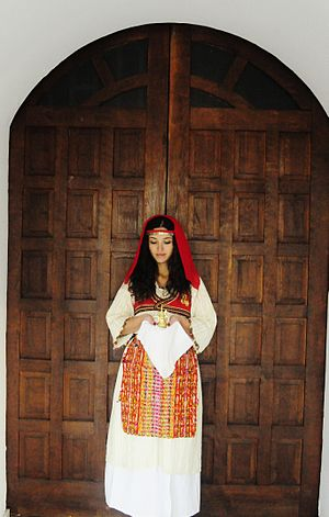 Traditional clothing of Kosovo - Women's Podgur apparel characterized by the crown lace
