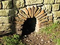 Culvert in the wall of the Commandant's House, Chesters Fort - geograph.org.uk - 1040213.jpg