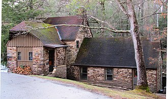 Cumberland Mountain State Park - Mill House Lodge, built by the CCC in the 1930s