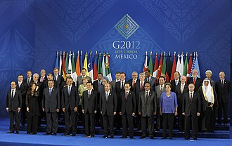 Brazil–Mexico relations - Former President Dilma Rousseff attending the G-20 summit in Los Cabos, Mexico; 2012.