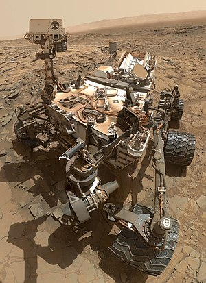 Curiosity (rover) - Image: Curiosity Self Portrait at 'Big Sky' Drilling Site