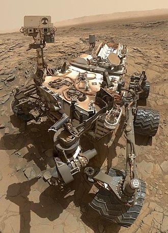 Curiosity (rover) - Image: Curiosity Self Portrait at 'Big Sky' Drilling Site
