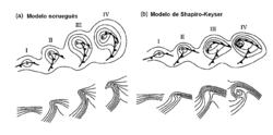 As diferenças entre o modelo norueguês de ciclones e o modelo de Shapiro-Keyser na estrutura frontal