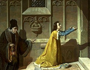 Saint Casimir - Długosz and Saint Casimir by Florian Cynk (circa 1869)