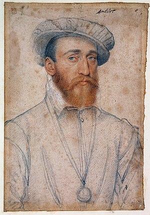 François de Coligny d'Andelot - studio of Jean Clouet (c.1555)