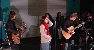 Audience (Ayumi Hamasaki song) - Dai Nagao (left) produced and composed the song, along with other of Hamasaki's subsequent releases.