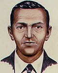 A 1972 FBI composite drawing of D. B. Cooper