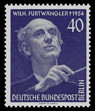 Wilhelm Furtwängler - Furtwängler commemorated on a stamp for West Berlin, 1955