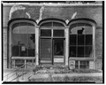 DETAIL OF EAST FRONT ENTRANCE AND WINDOWS - Alexander Paul Store, Main and North Streets, Patch Grove, Grant County, WI HABS WIS,22-PAGROVI,1-4.tif