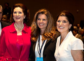 Maria Shriver - (L-R) Lynda Johnson Robb, Shriver, and Luci Baines Johnson at the Civil Rights Exhibit at the LBJ Presidential Library in 2014
