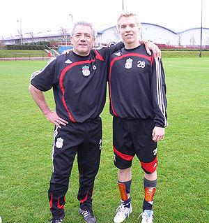 Kevin Keegan - Keegan and Liverpool striker Lauri Dalla Valle in 2007