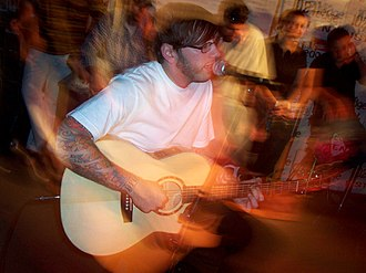 Dallas Green (musician) - Green performing at Edge102.1 Radio Studios in July 2005