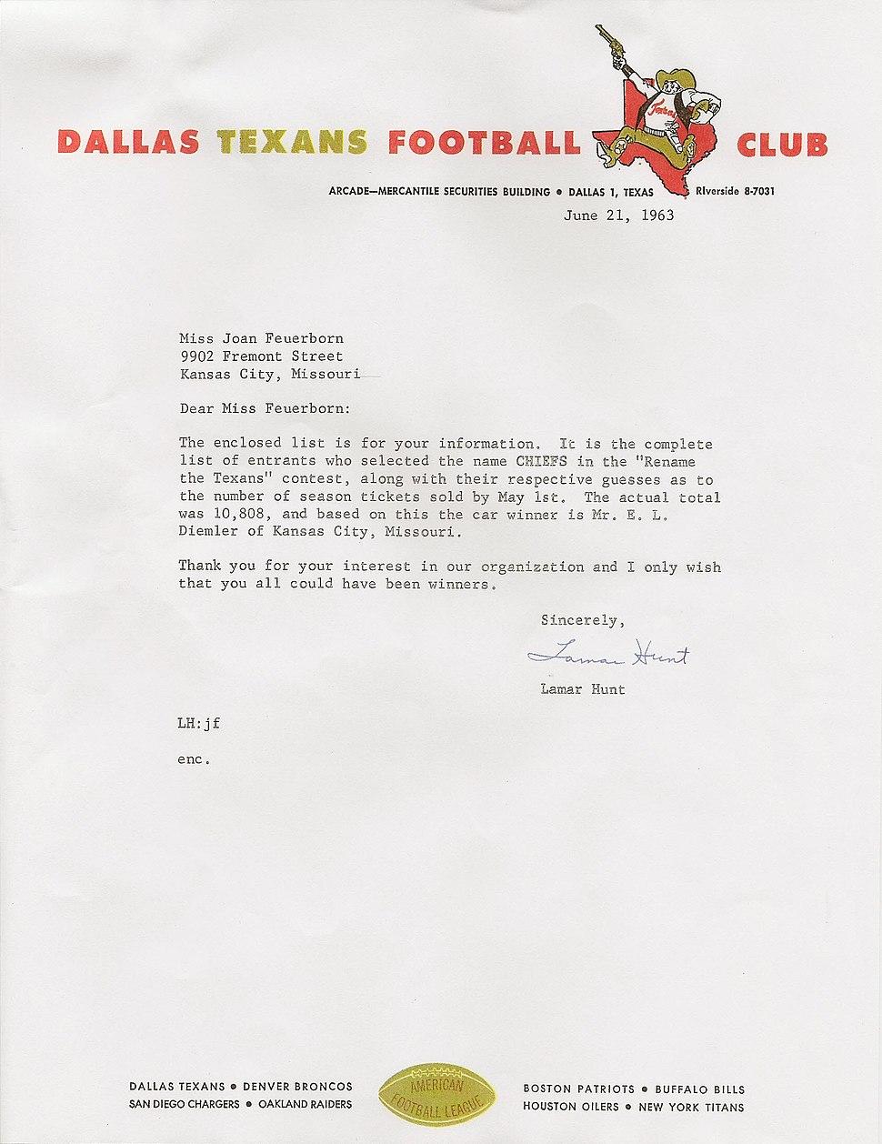 DallasTexansFootballClubNamingContestChiefs