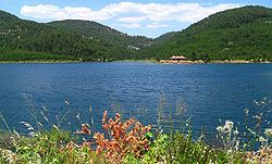 Ula artificial lake near Ula