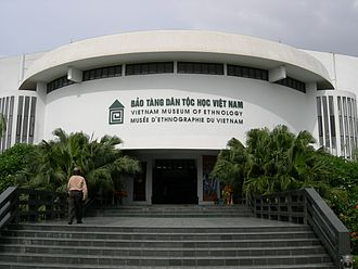 "Vietnam Museum of Ethnology - Entrance to the Museum's ""Bronze Drum"" building"