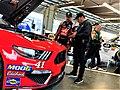 Daniel in the garage area at Daytona.jpg